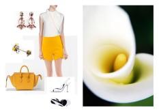 Top: Céline - Shorts: Zara - Borsa: Céline - Sandali: Pierre Hardy - Orecchini e Anello: Radà